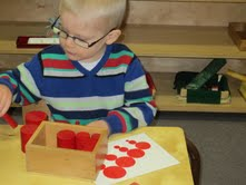 Montessori School in Guelph Sensorial Activities