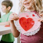 Montessori class making Valentine's Day cards